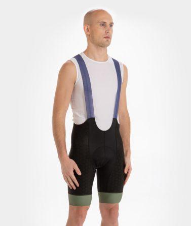Cycling bib shorts mens 4cyclists evo shield prime navy