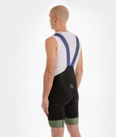 Cycling bib shorts mens 4cyclists evo shield prime navy back