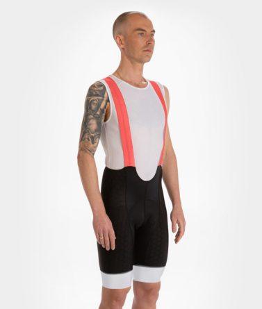 Cycling bib shorts mens 4cyclists evo shield prime red