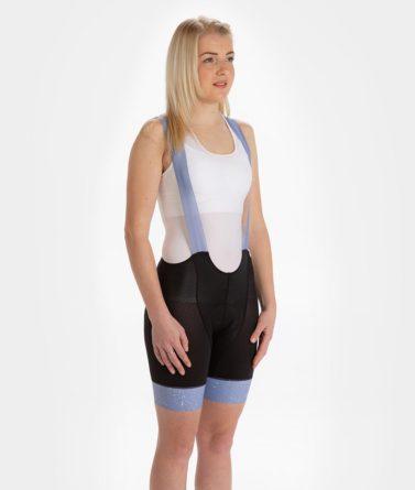Cycling bib shorts womens 4cyclists evo aero jam lilac