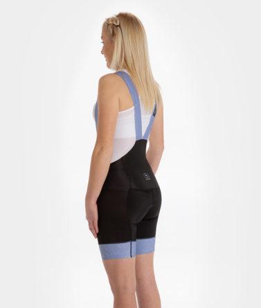 Cycling bib shorts womens 4cyclists evo aero jam lilac back