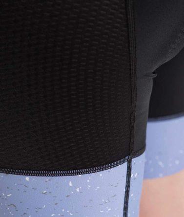 Cycling bib shorts womens 4cyclists evo aero jam lilac details