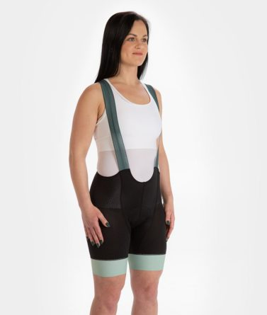 Cycling bib shorts womens 4cyclists evo aero prime moss green