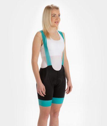 Cycling bib shorts womens 4cyclists evo race echelon teal