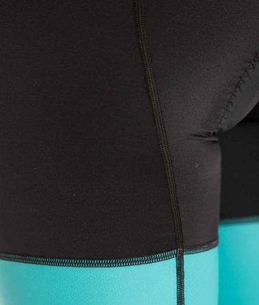 Cycling bib shorts womens 4cyclists evo race echelon teal details
