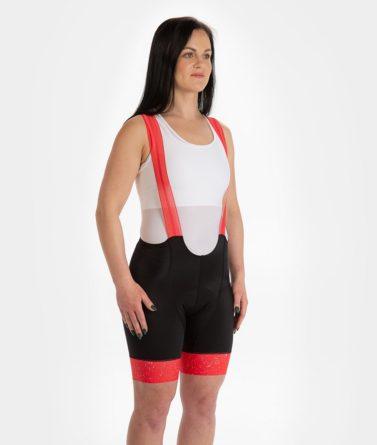 Cycling bib shorts womens 4cyclists evo race jam red