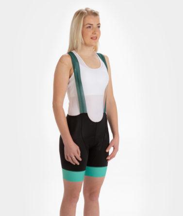 Cycling bib shorts womens 4cyclists evo race prime green