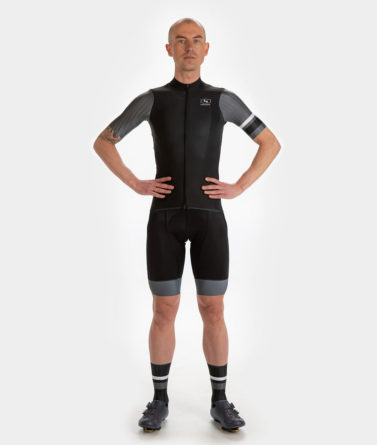 Cycling jersey bib shorts bundle mens 4cyclists evo race prime black