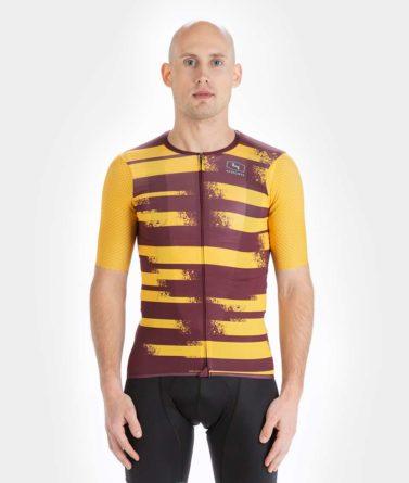 Cycling jersey mens 4cyclists evo aero echelon yellow