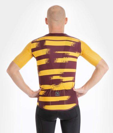 Cycling jersey mens 4cyclists evo aero echelon yellow back