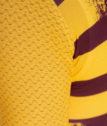 Cycling jersey mens 4cyclists evo aero echelon yellow details materials