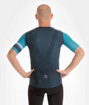 Cycling jersey mens 4cyclists evo aero prime blue back