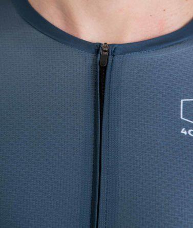 Cycling jersey mens 4cyclists evo aero prime blue zipper