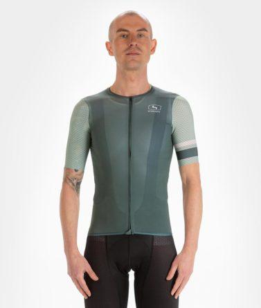 Cycling jersey mens 4cyclists evo aero prime moss green