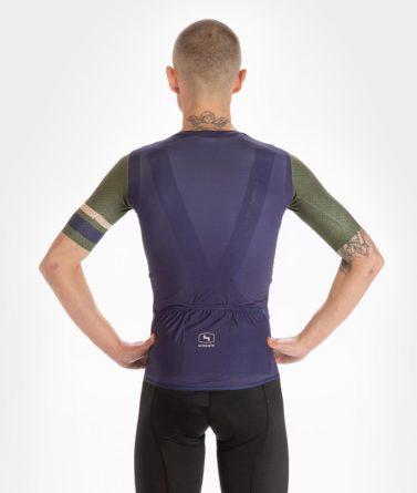Cycling jersey mens 4cyclists evo aero prime navy back