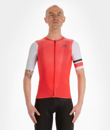 Cycling jersey mens 4cyclists evo aero prime red