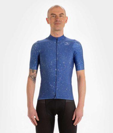 Cycling jersey mens 4cyclists evo race jam blue