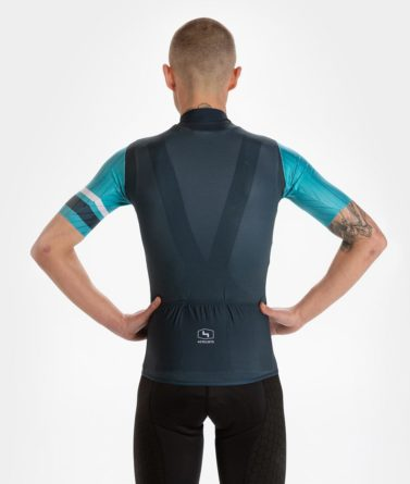 Cycling jersey mens 4cyclists evo race prime blue back