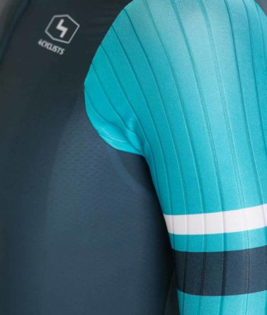 Cycling jersey mens 4cyclists evo race prime blue details materials