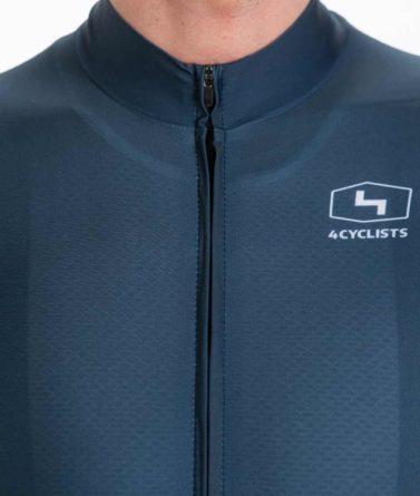 Cycling jersey mens 4cyclists evo race prime blue zipper