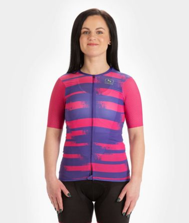 Cycling jersey womens 4cyclists evo aero echelon fuchsia