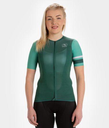 Cycling jersey womens 4cyclists evo aero prime green