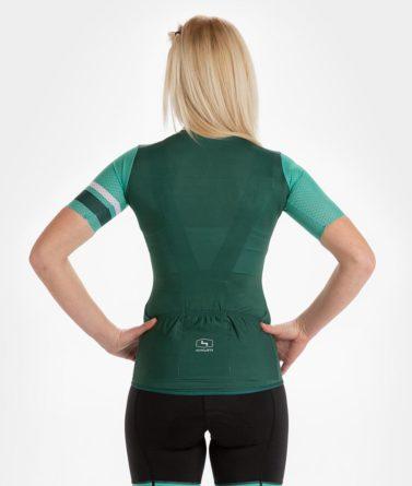 Cycling jersey womens 4cyclists evo aero prime green back