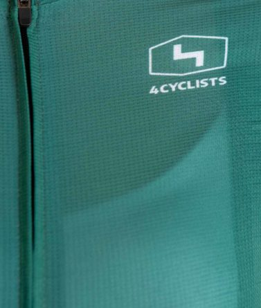 Cycling jersey womens 4cyclists evo aero prime green zipper