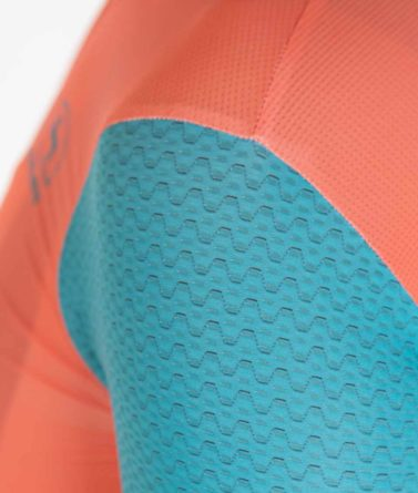 Cycling jersey womens 4cyclists evo aero prime salmon details materials