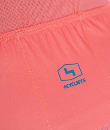 Cycling jersey womens 4cyclists evo aero prime salmon pocket