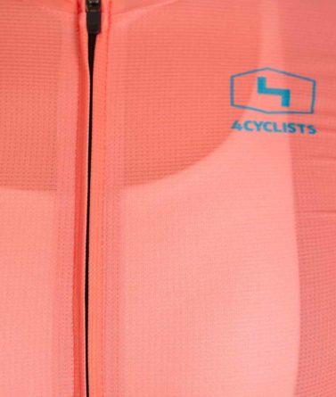 Cycling jersey womens 4cyclists evo aero prime salmon zipper