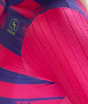 Cycling jersey womens 4cyclists evo race echelon fuchsia details materials