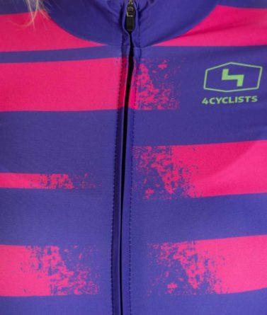 Cycling jersey womens 4cyclists evo race echelon fuchsia zipper
