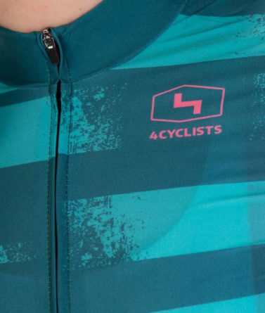 Cycling jersey womens 4cyclists evo race echelon teal zipper