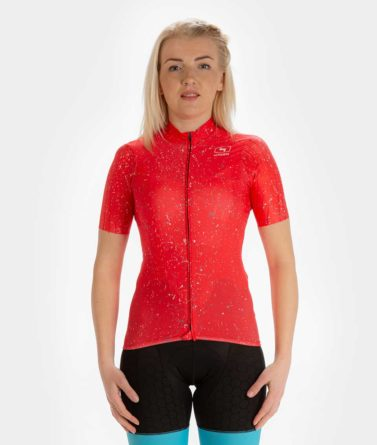 Cycling jersey womens 4cyclists evo race jam red