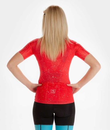 Cycling jersey womens 4cyclists evo race jam red back