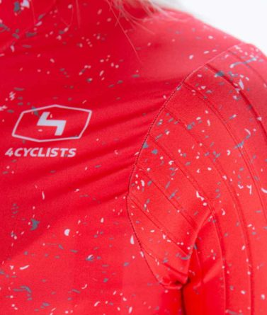 Cycling jersey womens 4cyclists evo race jam red details materials