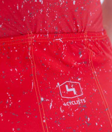 Cycling jersey womens 4cyclists evo race jam red pocket