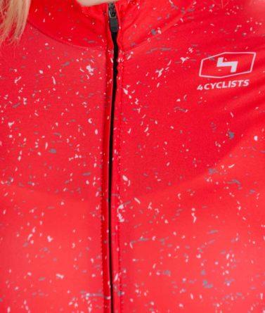 Cycling jersey womens 4cyclists evo race jam red zipper