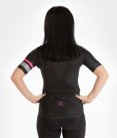 Cycling jersey womens 4cyclists evo race prime black back