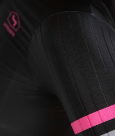 Cycling jersey womens 4cyclists evo race prime black details materials