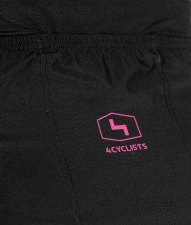 Cycling jersey womens 4cyclists evo race prime black pocket