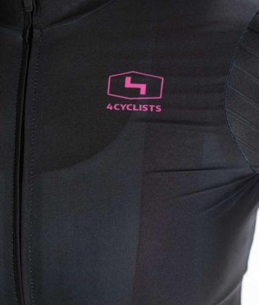 Cycling jersey womens 4cyclists evo race prime black zipper