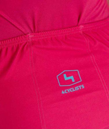 Cycling jersey womens 4cyclists evo race prime fuchsia pocket