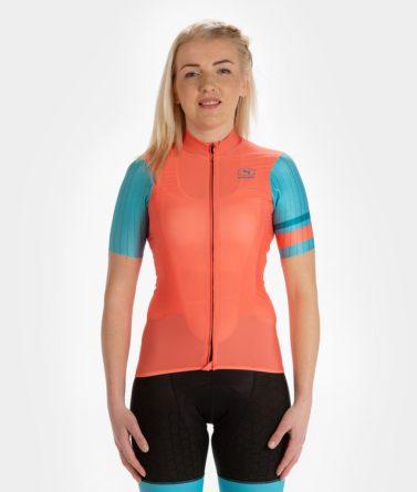 Cycling jersey womens 4cyclists evo race prime salmon