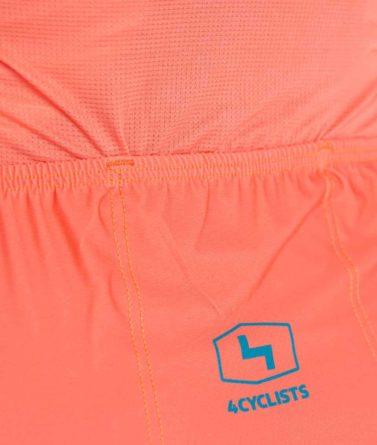 Cycling jersey womens 4cyclists evo race prime salmon pocket